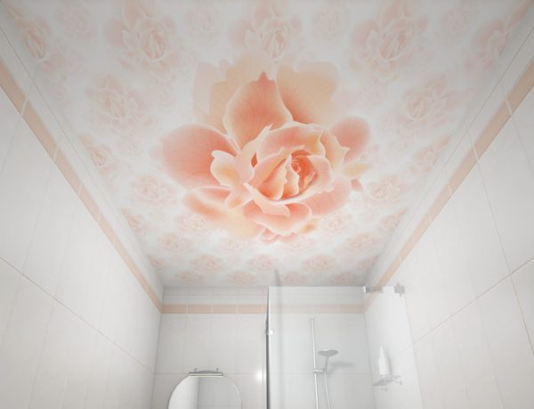 Ремонт потолка в ванной пластиковыми панелями