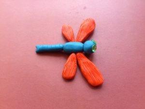 картинки стрекозы из пластилина